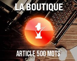 Article 500 mots