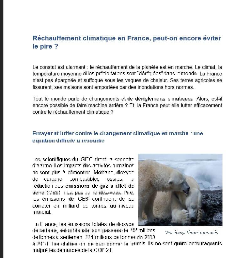 Réchauffement climatique en France, peut-on encore éviter le pire ?